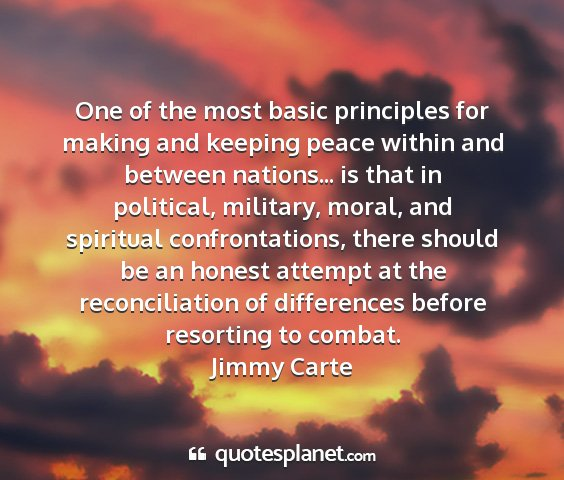 Jimmy carte - one of the most basic principles for making and...