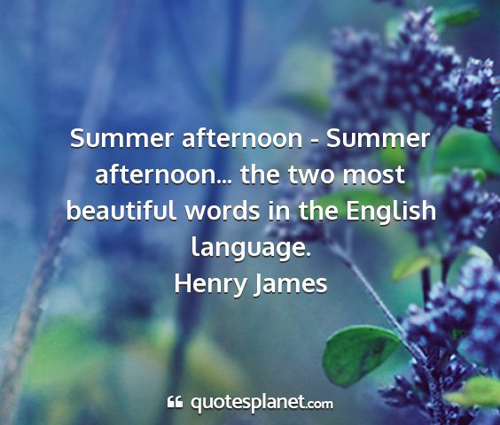 Henry james - summer afternoon - summer afternoon... the two...