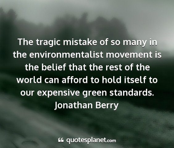 Jonathan berry - the tragic mistake of so many in the...