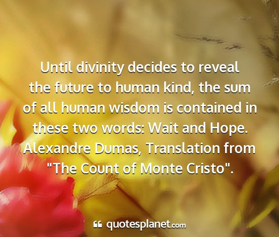 Alexandre dumas, translation from