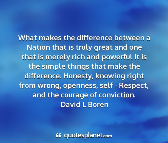 David l boren - what makes the difference between a nation that...